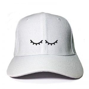 I'm Sleeping in White Embroidered Cap, Custom our iTee template and make it yours. Product View