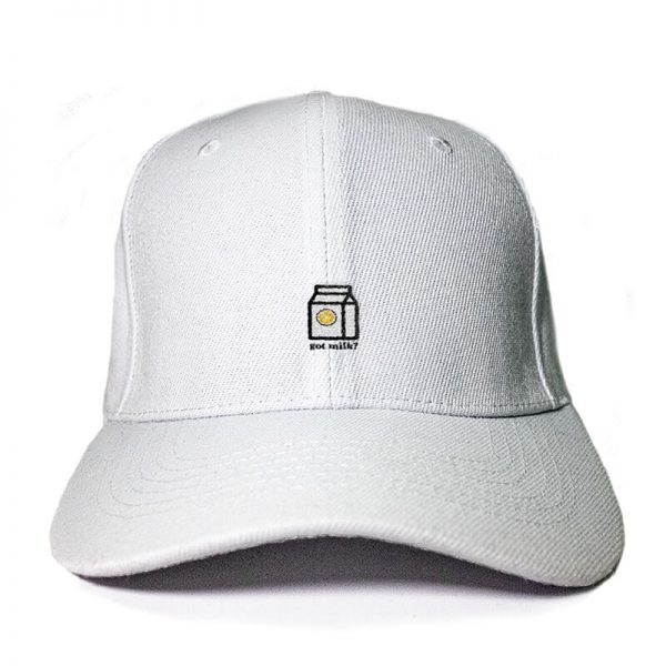 Got Milk! in Black Embroidered Cap, Custom our iTee template and make it yours. Product View