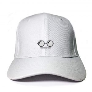 Nerdy Face in White Embroidered Cap, Custom our iTee template and make it yours. Product View