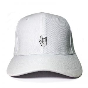 Let's Rock and Roll in White Embroidered Cap, Custom our iTee template and make it yours. Product View