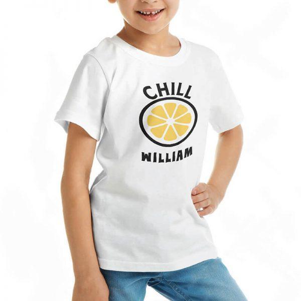 Custom your My Chill Lemon White T-shirt Template, Girl Model View
