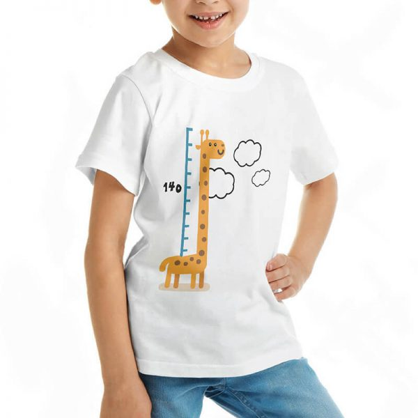 Custom your How Tall Am I? White T-shirt Template, Girl Model View