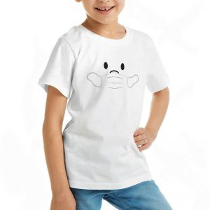 Custom your Wear My Mask White T-shirt Template, Girl Model View