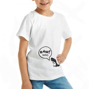 Custom your Rawr! Who? White T-shirt Template, Girl Model View