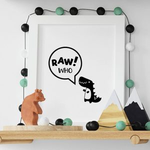 Create your Rawr! Who? White Kids T-shirt Thumbnail, Custom our iTee template and make it yours.