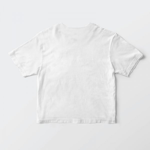 Custom your iTee White T-shirt Template, Back Product View