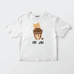 Custom your Share your Boba Tee White T-shirt Template, Front Product View