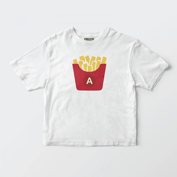 Custom your Gimme French Fries White T-shirt Template, Front Product View
