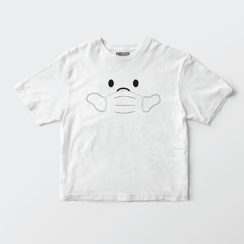 Custom your Wear My Mask White T-shirt Template, Front Product View
