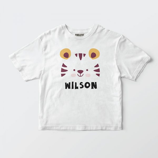 Custom your Tiger Roar Roar White T-shirt Template, Front Product View