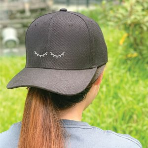 I'm Sleeping Black Embroidered Cap, Custom our iTee template and make it yours. Model View