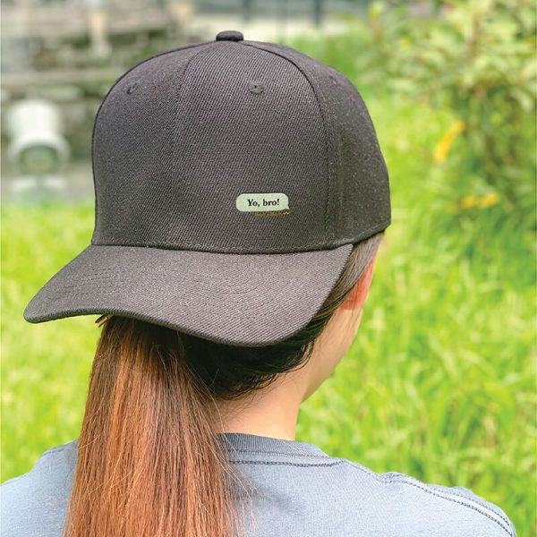 My Message in Black Embroidered Cap, Custom our iTee template and make it yours. Model View