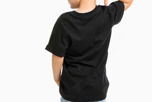kids crew t-shirt black