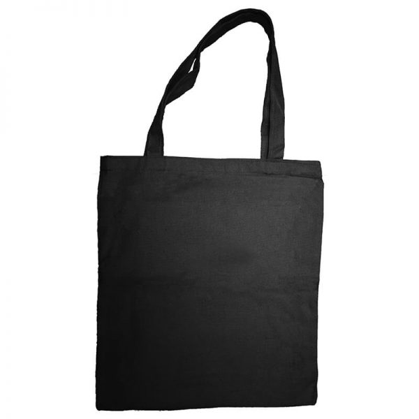 Custom your Black Tote-bag Free size Front View