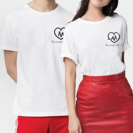 Heart Beat Couple T-shirt (2pcs)