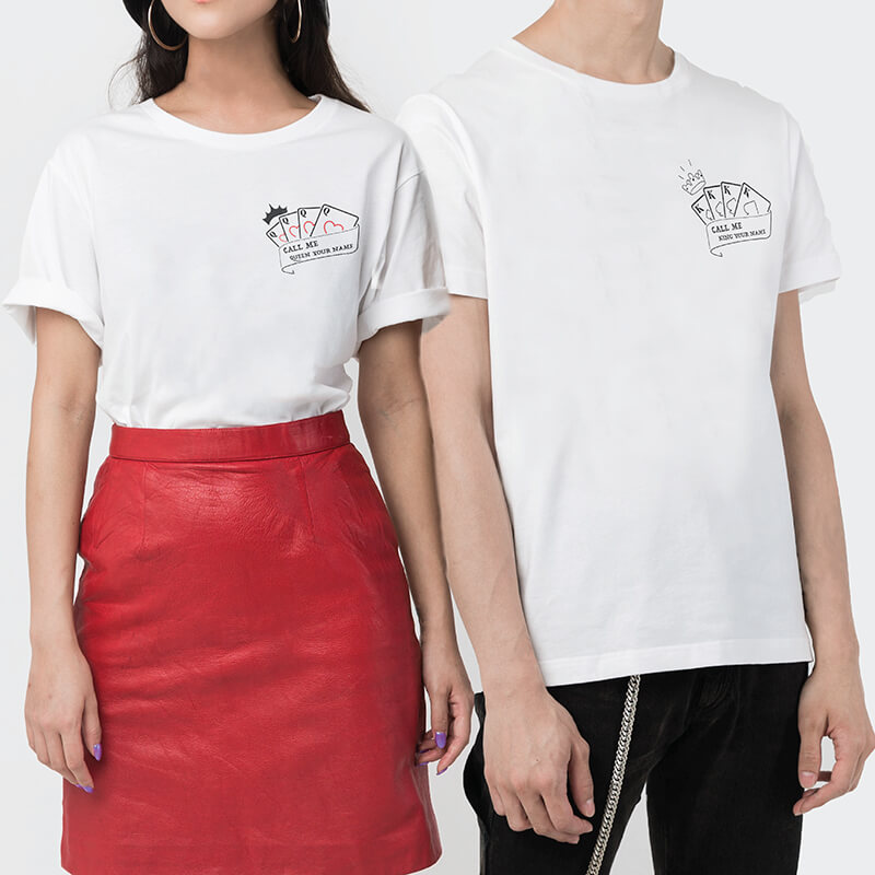 King & Queen Couple T-shirt (2pcs)