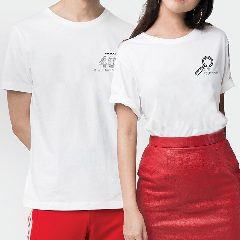 404 & Found Couple T-shirt (2pcs)