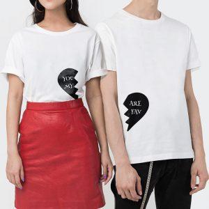 Custom your Where did my heart go? White Unisex Crew T-shirt Template, Model