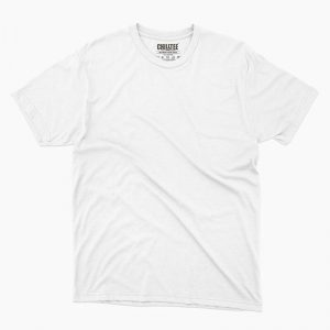 Custom your White Unisex Crew T-shirt Template, Front Product View