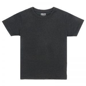 Kids Black Crew T-shirt Front View