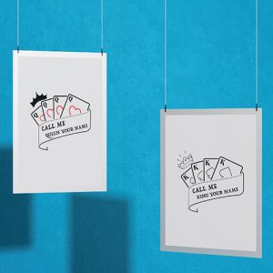 Create your King & Queen Couple T-shirt Thumbnail, Custom our iTee template and make it yours.