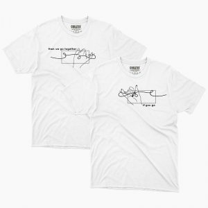 Custom your Pinky Promise White Unisex Crew T-shirt Template, Front Product View