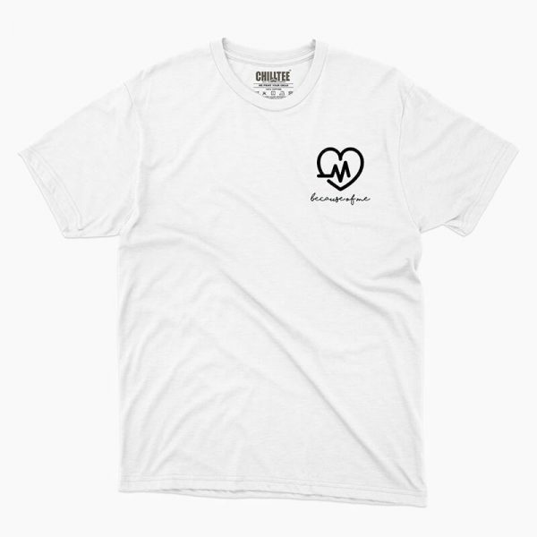 Custom your Heart Beat White Unisex Crew T-shirt Template, Front Product View for Women