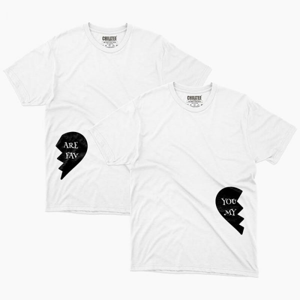 Custom your Where did my Heart go White Unisex Crew T-shirt Template, Front Product View