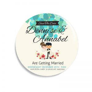 iTee, Custom your Button Magnet Template, CTWED1012