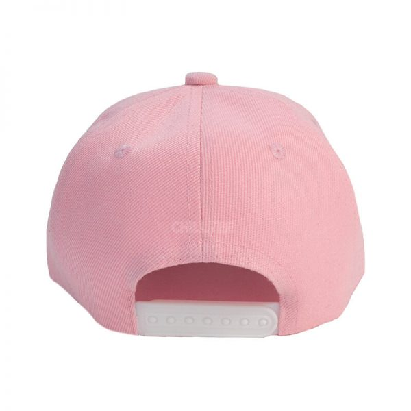 Custom and Embroider your Baby Pink Kids Cap Back Side View