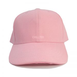 Custom and Embroider your Baby Pink Kids Cap Front Side View