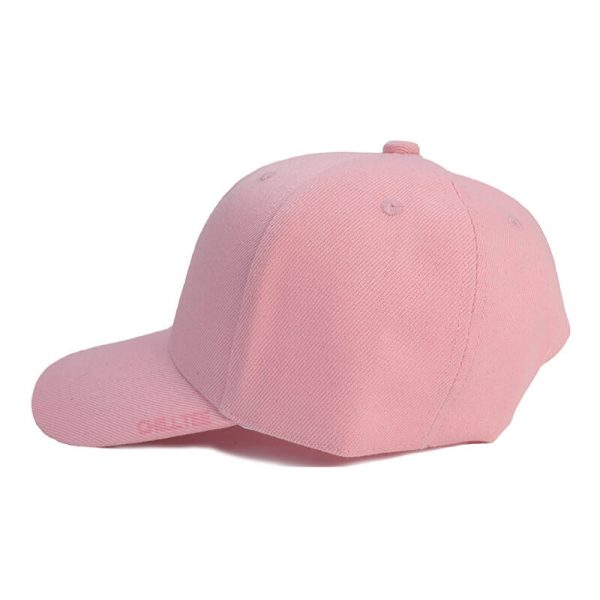 Custom and Embroider your Baby Pink Kids Cap Left Side View
