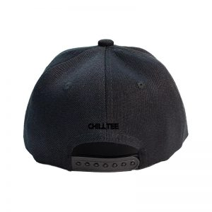 Custom and Embroider your Black Kids Cap Back Side View