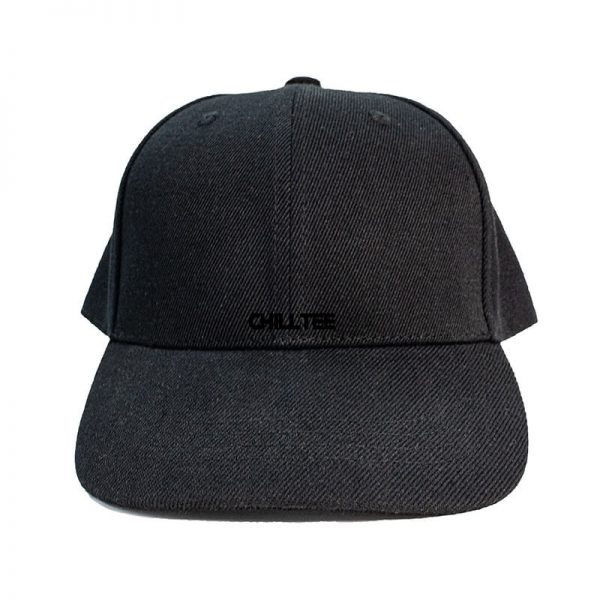 Custom and Embroider your Black Kids Cap Front Side View