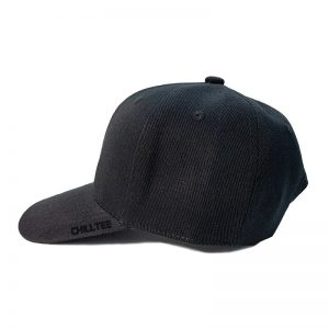 Custom and Embroider your Black Kids Cap Left Side View