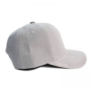 Custom and Embroider your Grey Kids Cap Right Side View