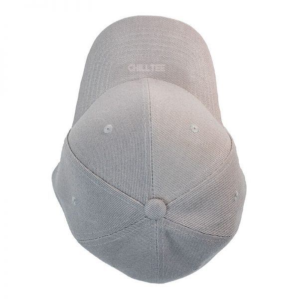 Custom and Embroider your Grey Kids Cap Top Side View