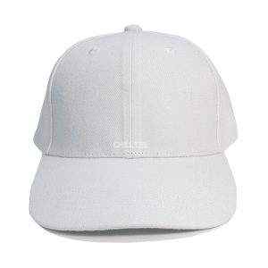Custom and Embroider your White Kids Cap Front Side View