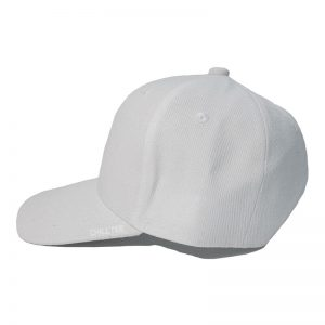 Custom and Embroider your White Kids Cap Left Side View