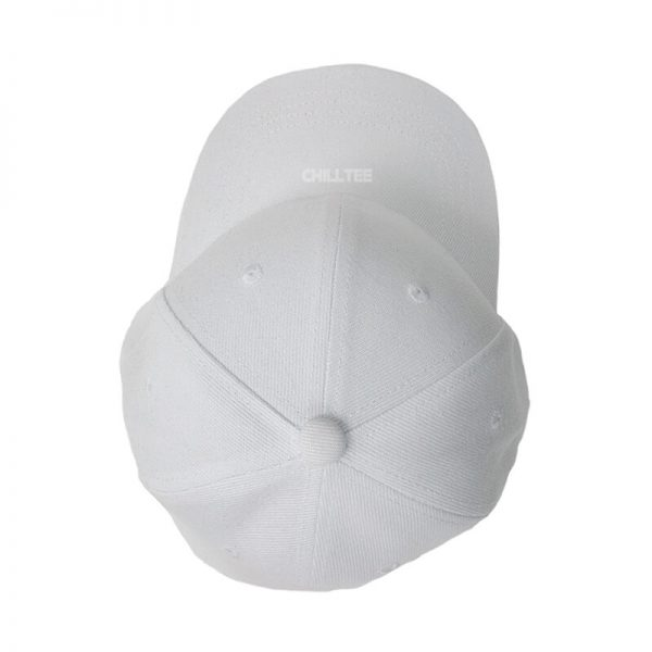 Custom and Embroider your White Kids Cap Top Side View