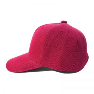 Custom and Embroider your Wine Red Kids Cap Left Side View