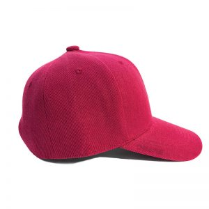 Custom and Embroider your Wine Red Kids Cap Right Side View