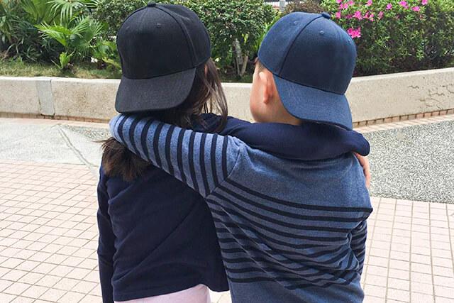 custom kids embroidered cap