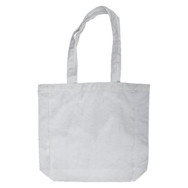 Custom your White Lightweight Flat Bottom Tote-bag, Back