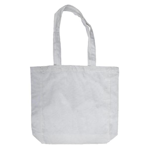 Custom your White Lightweight Flat Bottom Tote-bag, Front
