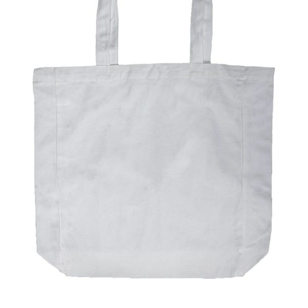Custom your White Lightweight Flat Bottom Tote-bag Zoom, Back View