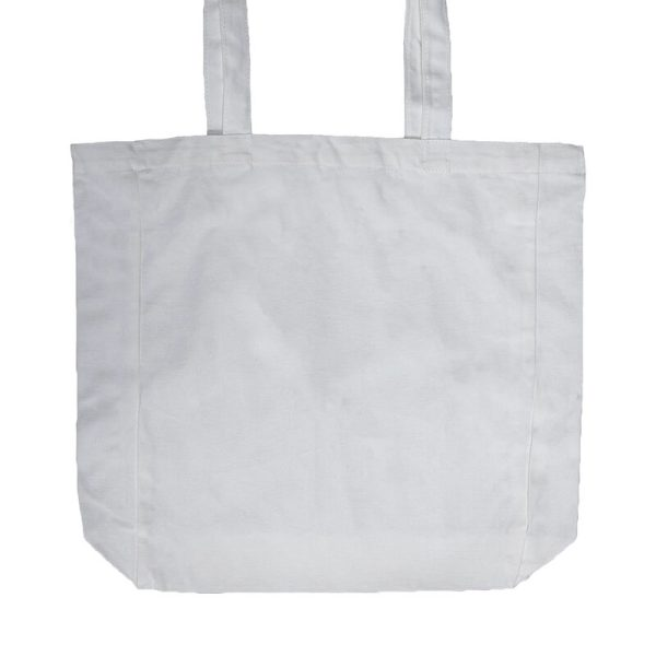Custom your White Lightweight Flat Bottom Tote-bag Zoom, Front View