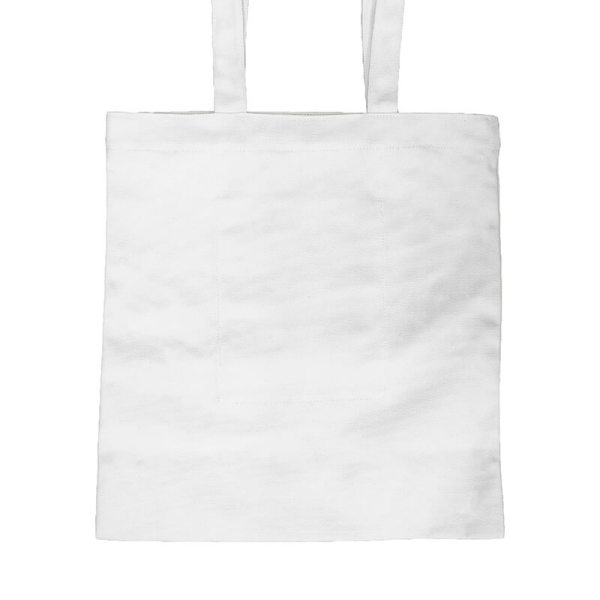 Custom your White Long Strap Tote-bag Zoom, Front View